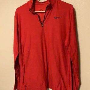 Men's medium Nike red Dri fit shirt